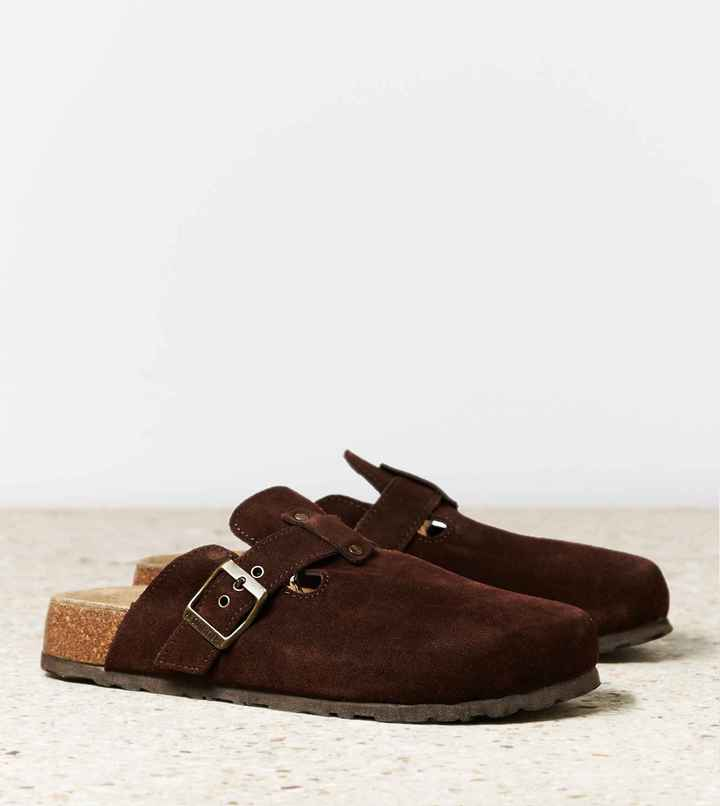 AEO Buckled Suede Clog 4