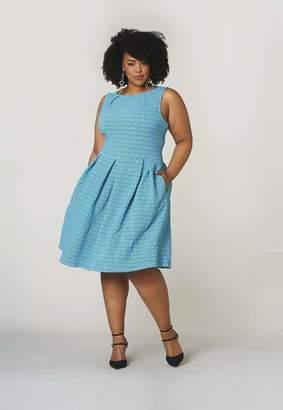 Leota Anita Dress in Belissimo Jacquard Size 1L Polyester/Rayon