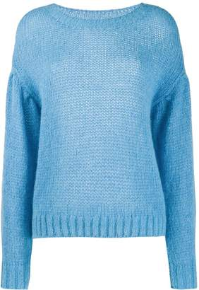 Closed dropped shoulder sweater