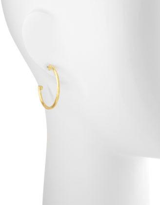 Jude Frances Medium 18k Brushed Gold Hoop Earrings