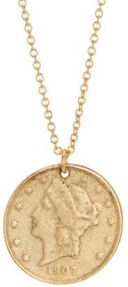 Yochi United Eagle Coin Pendant Necklace