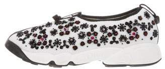 Christian Dior Fusion Embellished Sneakers White Fusion Embellished Sneakers