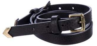 Roseanna Skinny Leather Belt