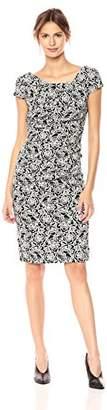 Adrianna Papell Women's Alicia Jacquard Draped Dress