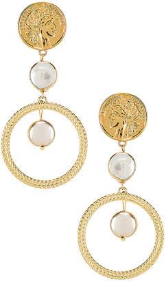 Ettika Coin & Pearl Drop Earring