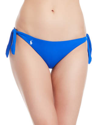 Polo Ralph Lauren Blue Side-Tie Hipster Bikini Bottom
