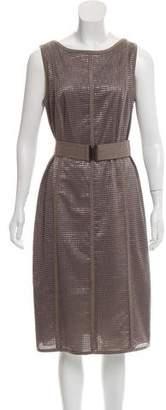 Akris Punto Belted Midi Dress