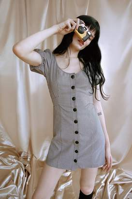 Urban Outfitters Emily Puff Sleeve Button-Up Dress