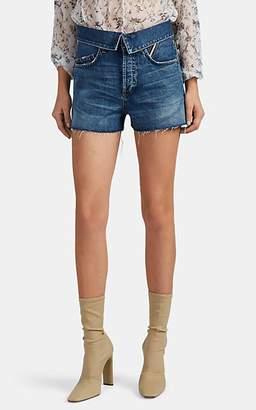 93a0eea7674 Atelier Jean Women s Flip Denim Cutoff Shorts - Blue