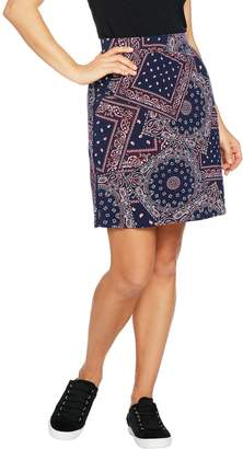 Denim & Co. Active Paisley Print Skort