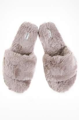PJ Salvage Slipper Fur Sliders