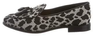 Trademark Raffia Tassel Loafers