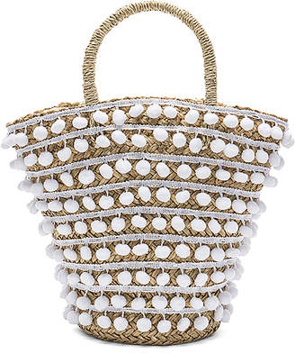 Mystique Pom Pom Bucket Bag