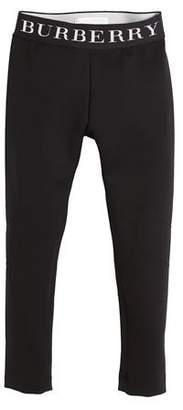 Burberry Charlene Logo-Waistband Leggings, Size 4-14