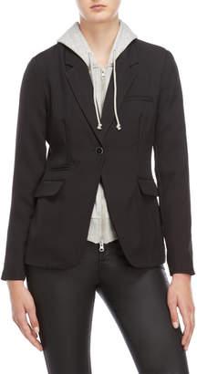 Romeo & Juliet Couture Romeo + Juliet Couture Black Hooded Blazer