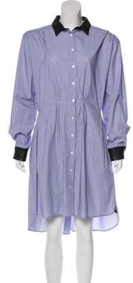 Band Of Outsiders Long Sleeve Midi Dress