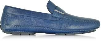 Moreschi Miami Blue Deerskin Driver Shoe w/Rubber Sole