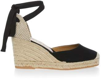 c42412a832db1 Office Womens Tie Up Heeled Espadrilles - Black