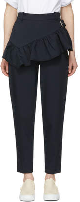 3.1 Phillip Lim Navy Ruffled Apron Trousers
