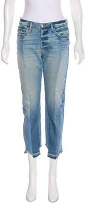 Frame Noveau Le Mix Mid-Rise Straight-Leg Jeans