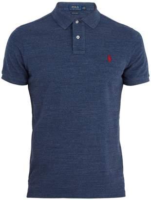 Polo Ralph Lauren Custom-slim fit cotton-piqué polo shirt