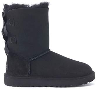 UGG (アグ) - Ugg Bailey Black Leather Ankle Boots With Bows