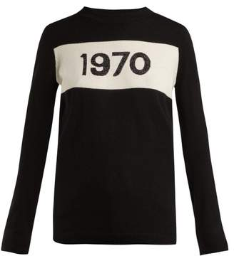 Bella Freud 1970 Intarsia Knit Sweater - Womens - Black