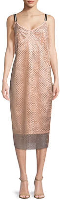 Manoush Robe Glitter Lace Dress