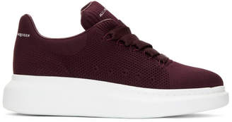 Alexander McQueen Burgundy New Knitted Sneakers