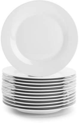 "Ten Strawberry Street 10 Strawberry Street Catering Pack 7.5"" Round Dessert Plates, Set of 12"