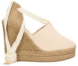 Castaner Nerea Beige Canvas Wedge Sandals