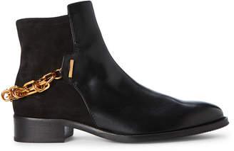 Stuart Weitzman Black Trot Leather Ankle Boots