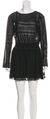 The Jetset Diaries Embroidered Mini Dress Black Embroidered Mini Dress