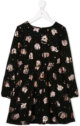 Kenzo metallic stars print dress