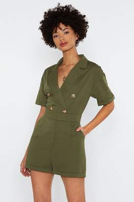 Nasty Gal Come Button Now Romper