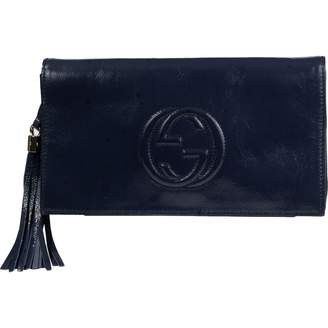 75bde6365580 Gucci Soho Navy Leather Clutch Bag