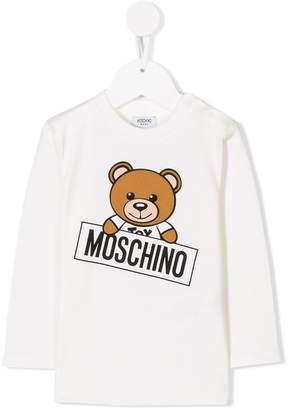 Moschino Kids bear print longsleeved T-shirt
