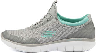 Skechers 12386-synergy-mirrorimage Grey-mint Sneakers Womens Shoes Active Casual Sneakers