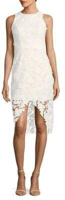 Betsy & Adam Lace Tulip Sheath Dress