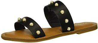 Rampage Women's Mindy Two-Band Pearl Slide Sandal