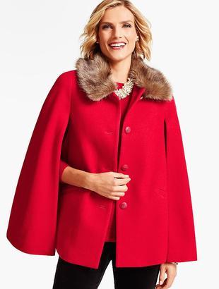 Faux Fur-Collar Cape $199 thestylecure.com