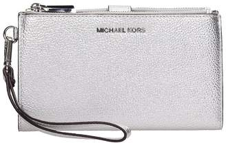 Michael Kors Silver Leather Wallet