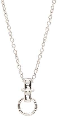 A.P.C. Cybill Hoop Pendant Necklace - Mens - Silver