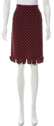 Prada Silk Polka Dot Skirt