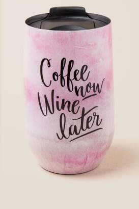 Coffee Now Wine Later Tumbler