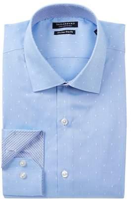 Tailorbyrd Dot Print Trim Fit Dress Shirt