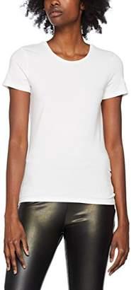 Noisy May Women's Nmsuper S/s Top Noos T-Shirt, Grey Melange, (Size