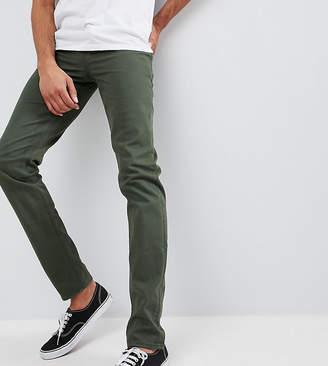 Asos DESIGN Tall slim jeans in green