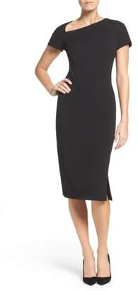 Maggy London Asymmetrical Sheath Dress