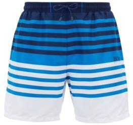 BOSS Hugo Striped swim shorts in quick-drying technical fabric S Open Blue